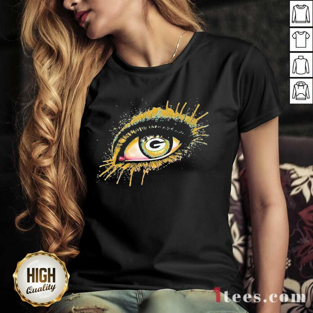Eyes Green Bay Packers V-neck- Design By 1Tees.com