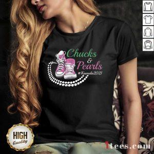 Kamala Harris Chucks And Pearls Aka Sorority 1908 V-neck