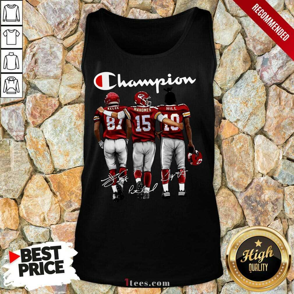 Alabama Crimson Tide Mac Jones Najee Harris And Devonta Smith Mvp Champions Signatures Tank Top-Design By 1Tees.com