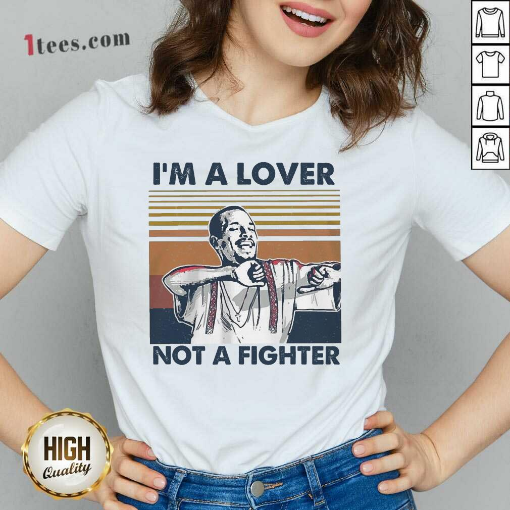 I Blood In Blood Out Cruzito Im A Lover Not A Fighter Vintage V-neck- Design By 1Tees.com