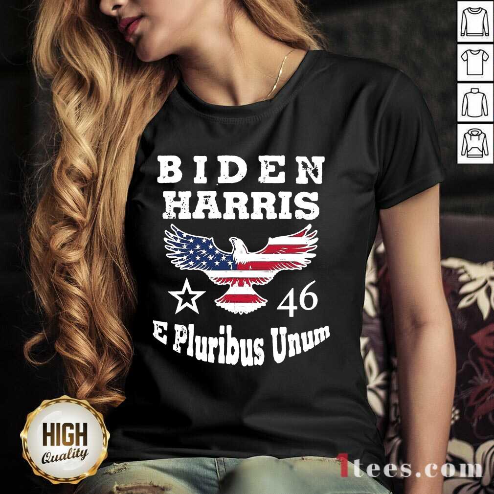 Biden Harris E Pluribus Unum 2021 Inauguration Eagle American Flag V-neck