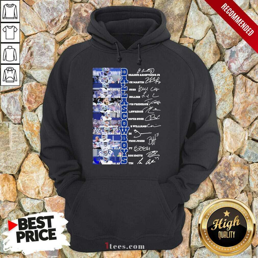 Dallas Cowboys Players Signatures Hoodie- Design By 1Tees.com