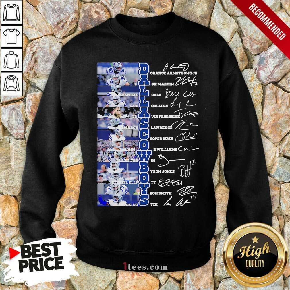 Dallas Cowboys Players Signatures Sweatshirt- Design By 1Tees.com