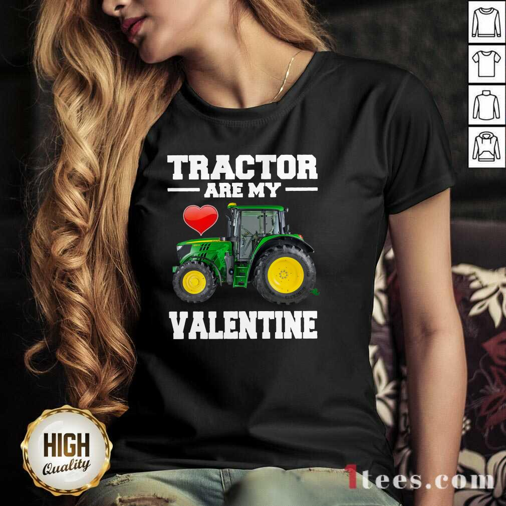 Tractor Are My Valentine V-neck