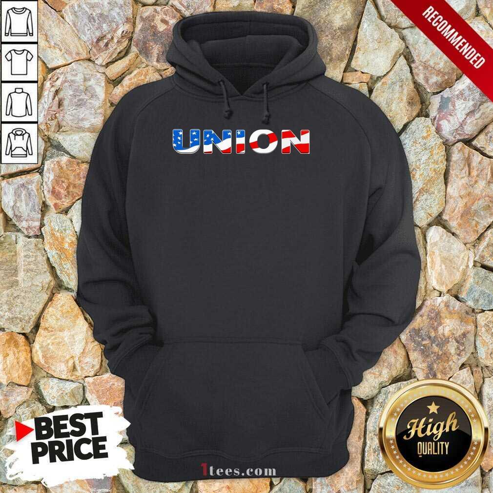 Union American Flag Hoodie