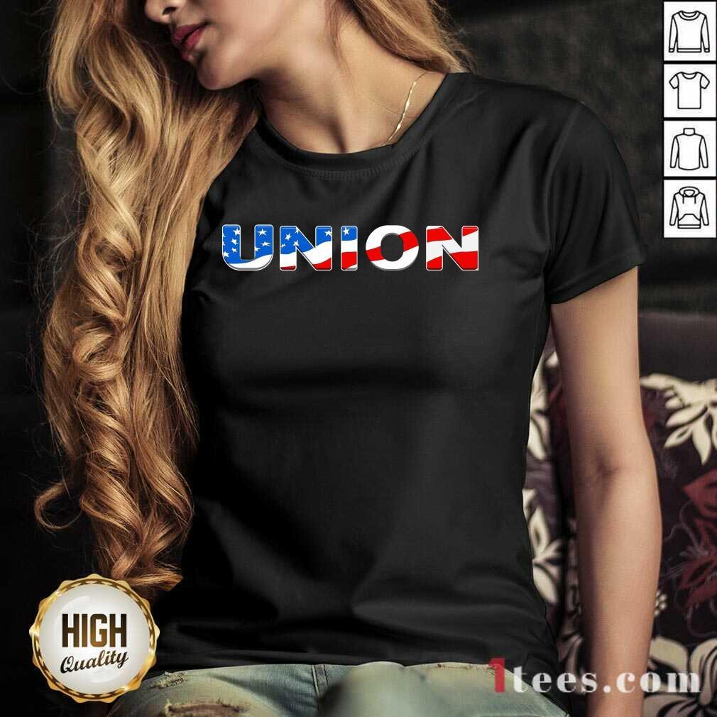 Union American Flag V-neck