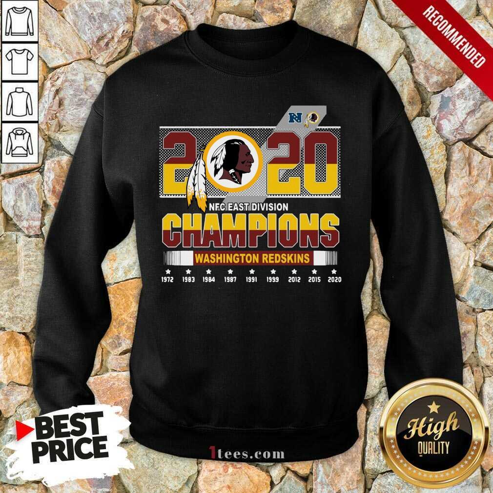 2020 Nfc East Division Champions Washington Redskins 1972 2020 Sweatshirt-Design By 1Tees.com
