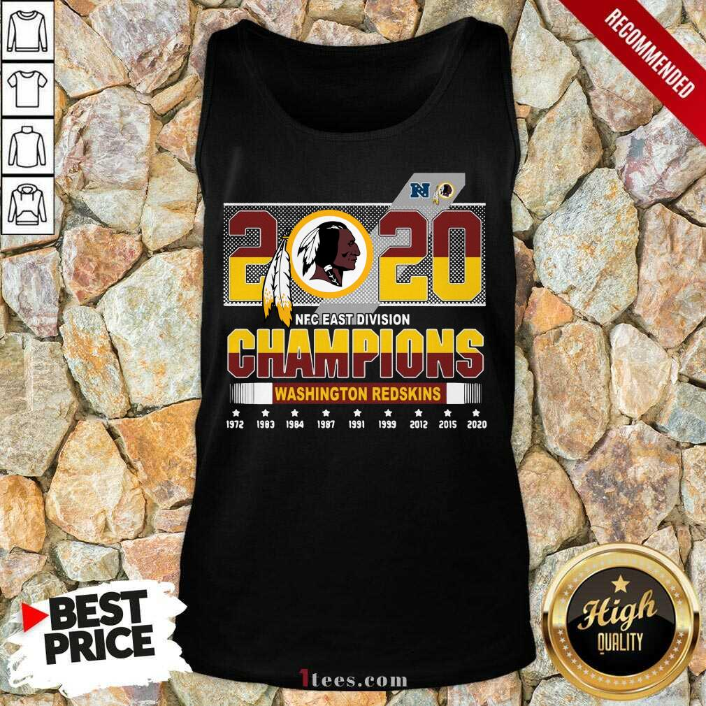 2020 Nfc East Division Champions Washington Redskins 1972 2020 Tank Top-Design By 1Tees.com