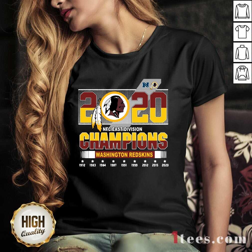 2020 Nfc East Division Champions Washington Redskins 1972 2020 V-neck-Design By 1Tees.com
