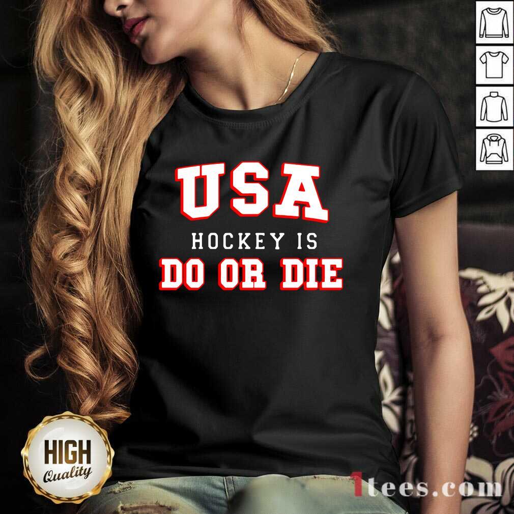 USA Hockey Do Or Die V-neck-Design By 1Tees.com