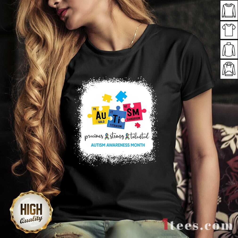 Amused Au Ti Sm Autism Awareness Month V-neck