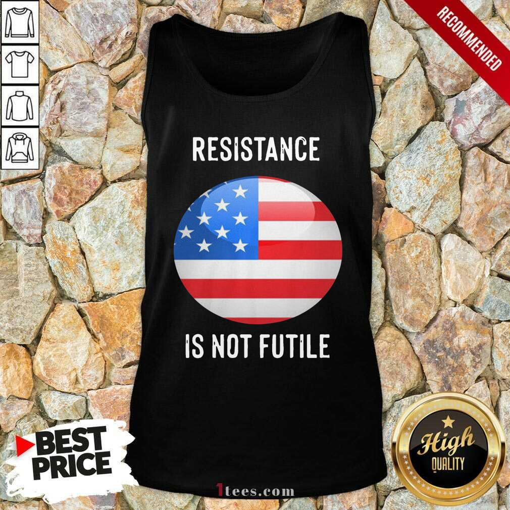 Resistance Is Not Futile American Flag Tank Top