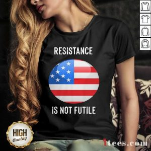 Resistance Is Not Futile American Flag V-neck