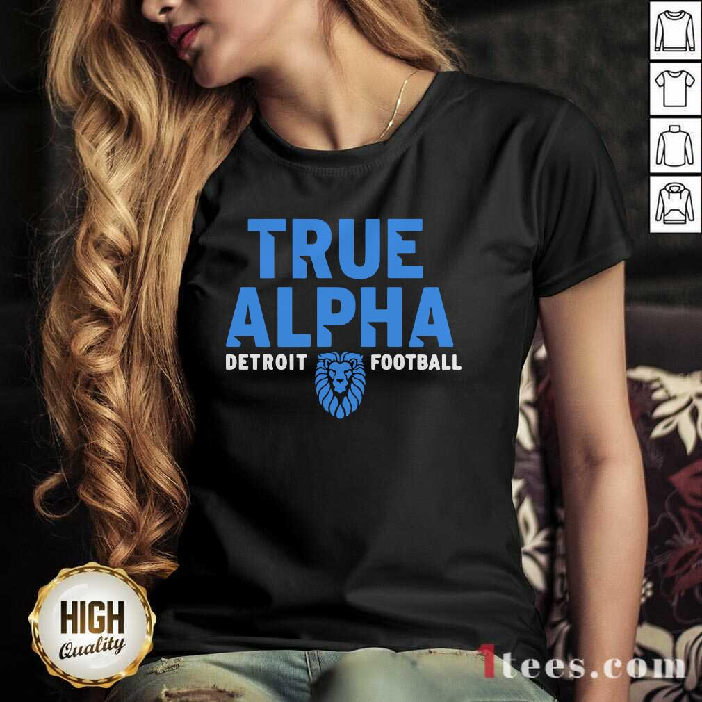 True Alpha Detroit Football V-neck