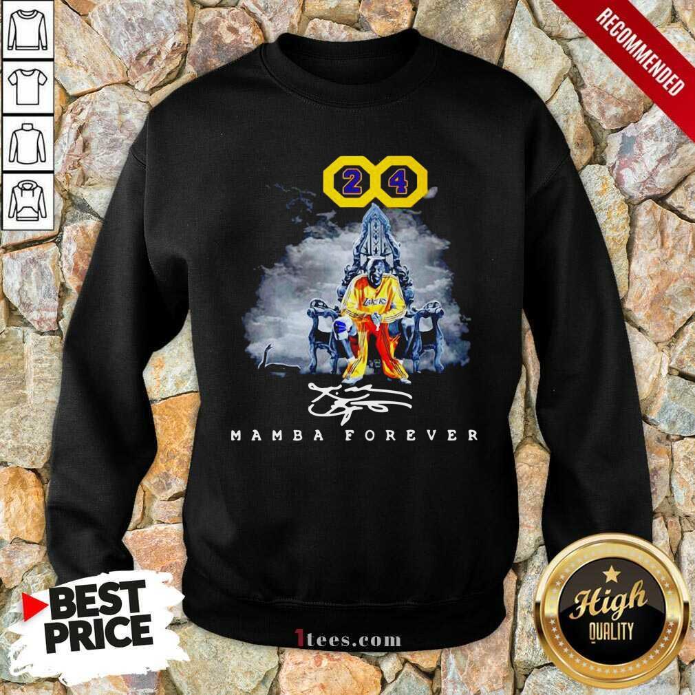 Lakers Kobe Bryant 24 Mamba Forever Signature Sweatshirt