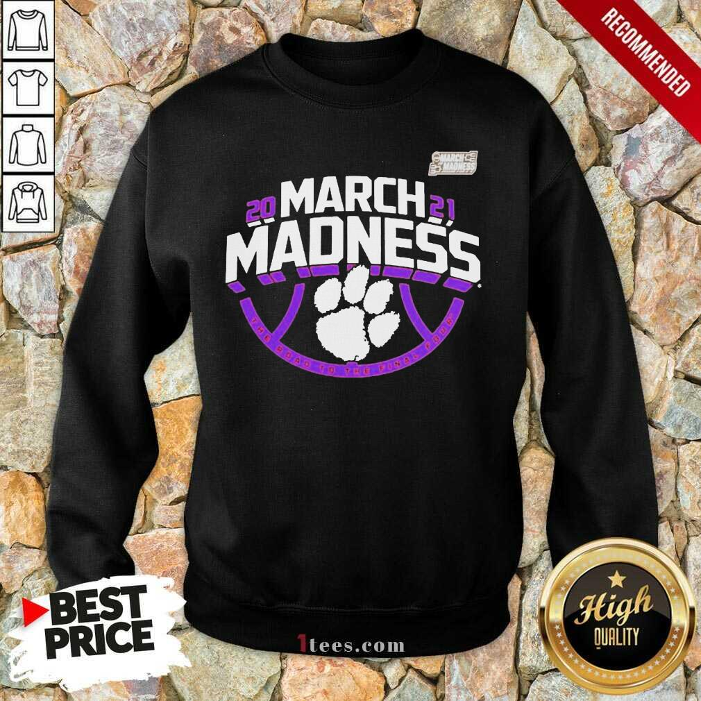 Confident Orange Tigers 2021 March Sweatshirt