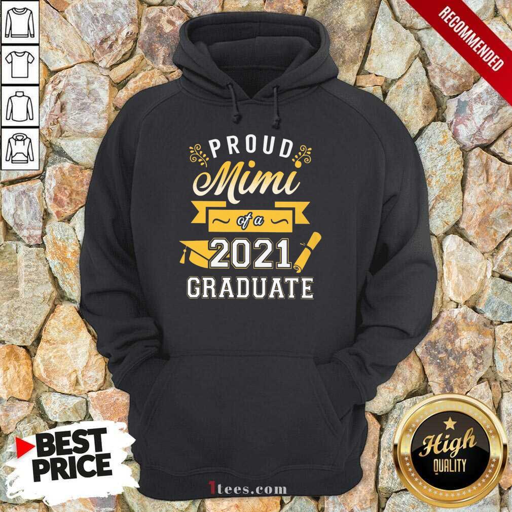 Confident Proud Mimi 2021 Graduate Senior Gold Hoodie