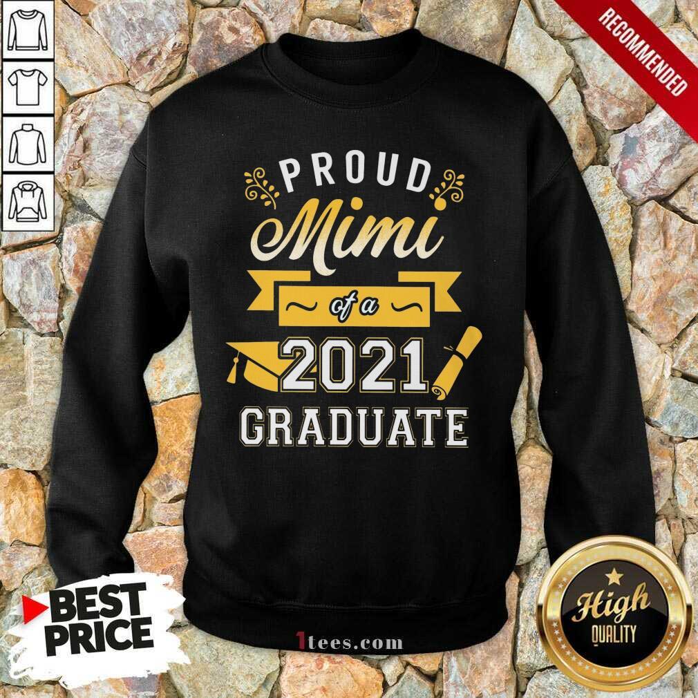 Confident Proud Mimi 2021 Graduate Senior Gold Sweatshirt