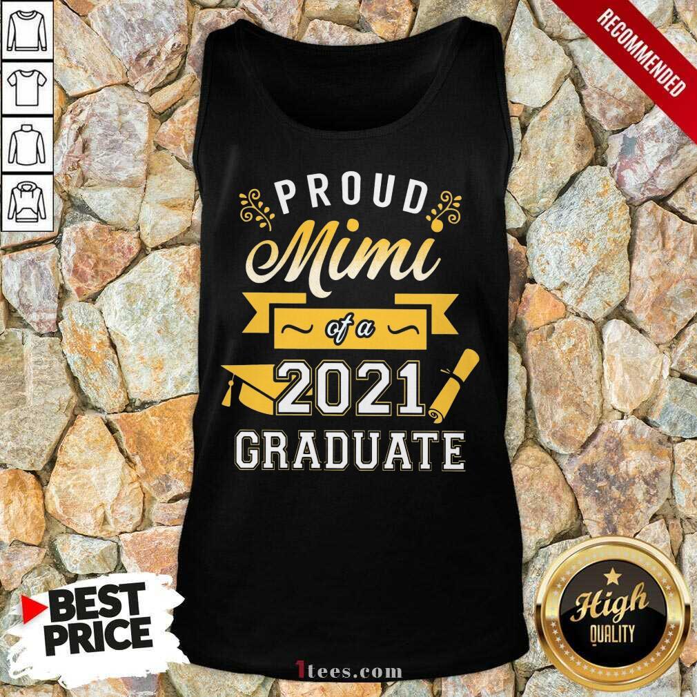 Confident Proud Mimi 2021 Graduate Senior Gold Tank Top