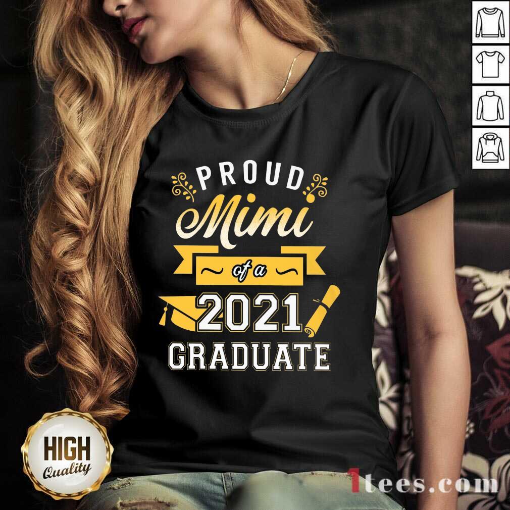 Confident Proud Mimi 2021 Graduate Senior Gold V-neck
