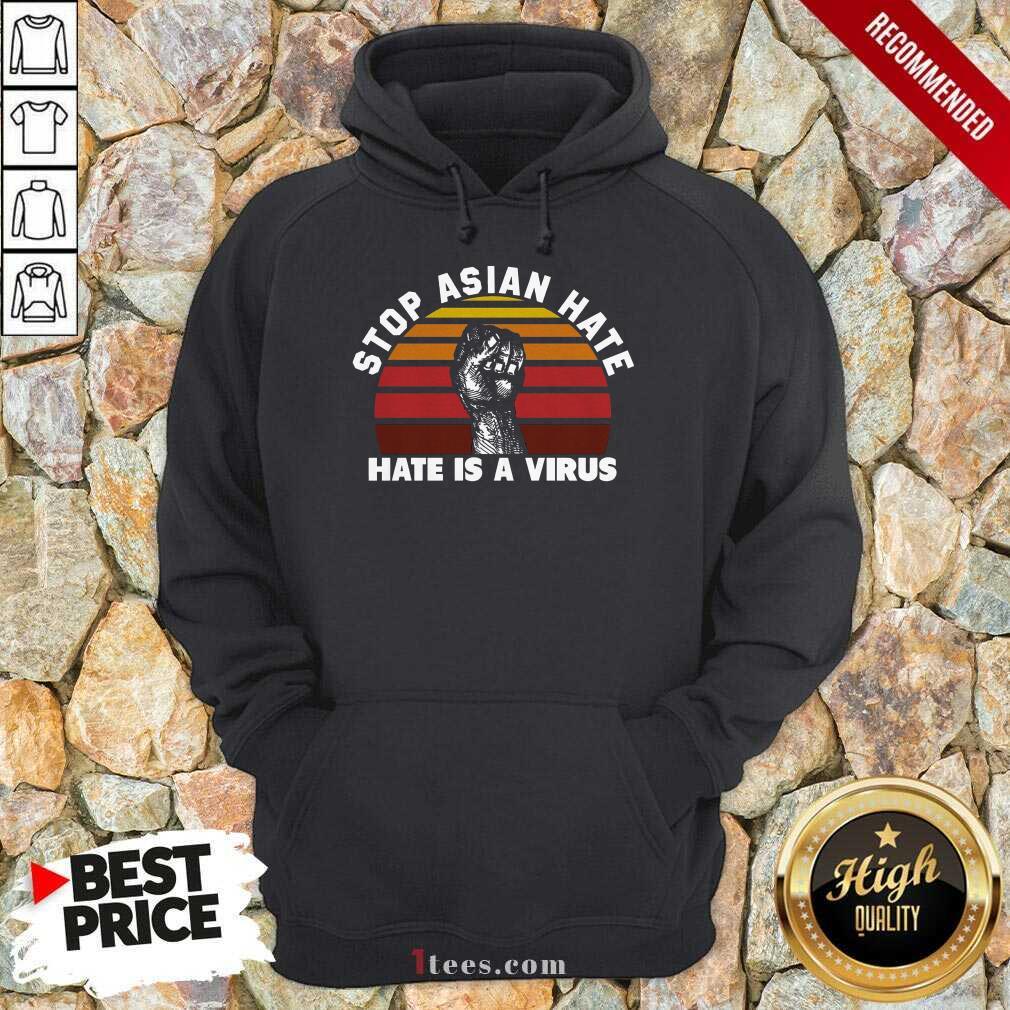Confident Stop Asian Hate Virus Vintage Hoodie