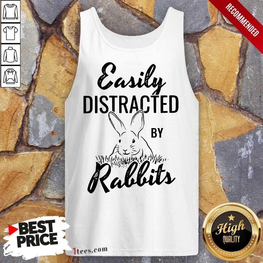 Delighted Easily Distracted By Rabbits Tank Top