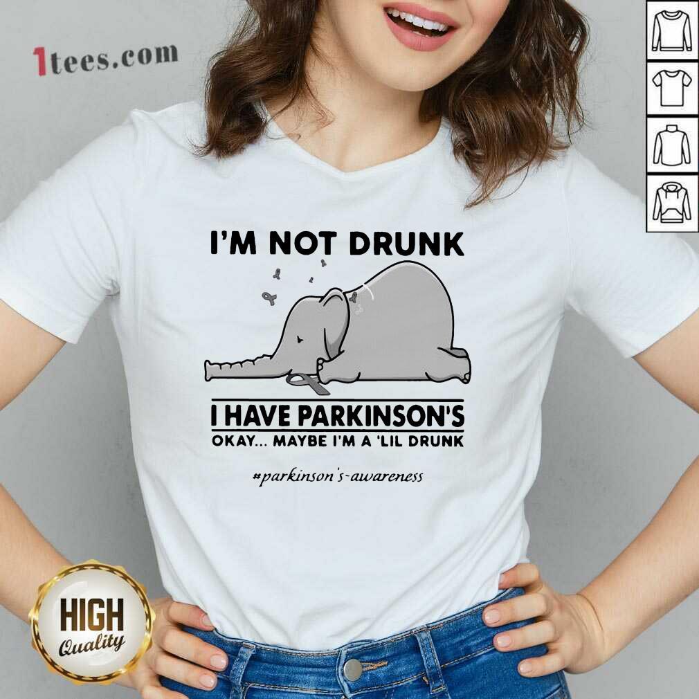 Delighted Elephant Drunk Have Lil Drunk V-neck