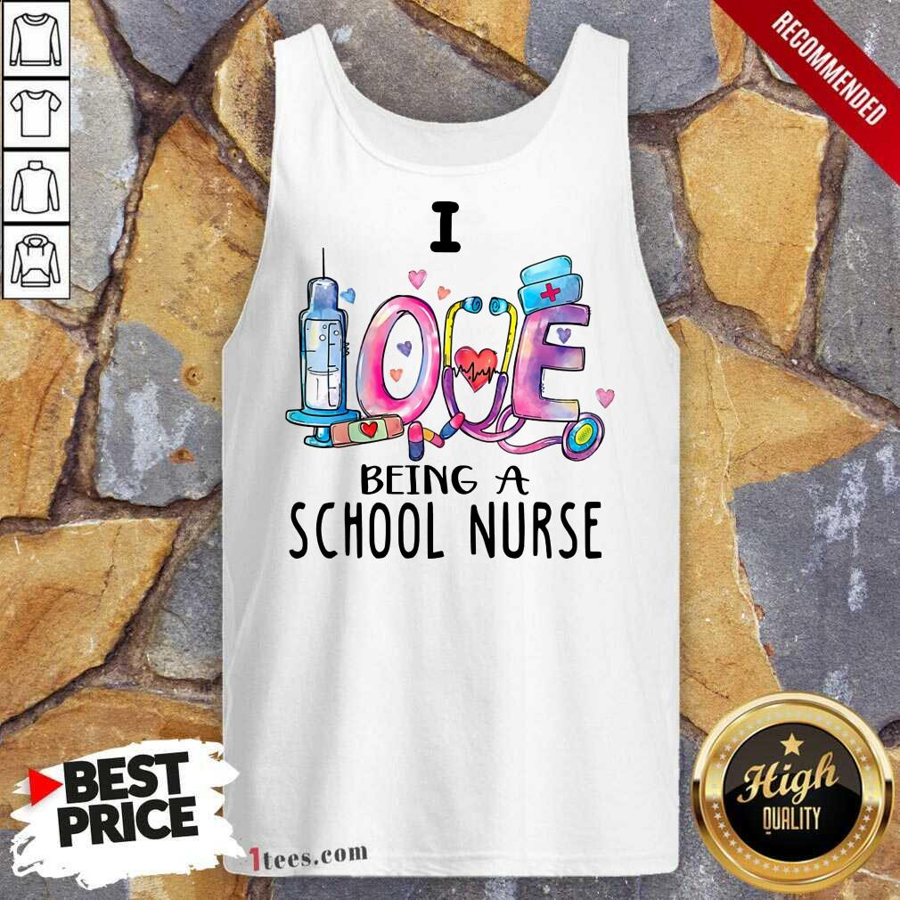 Delighted I Love Being A School Nurse 2021 Tank Top
