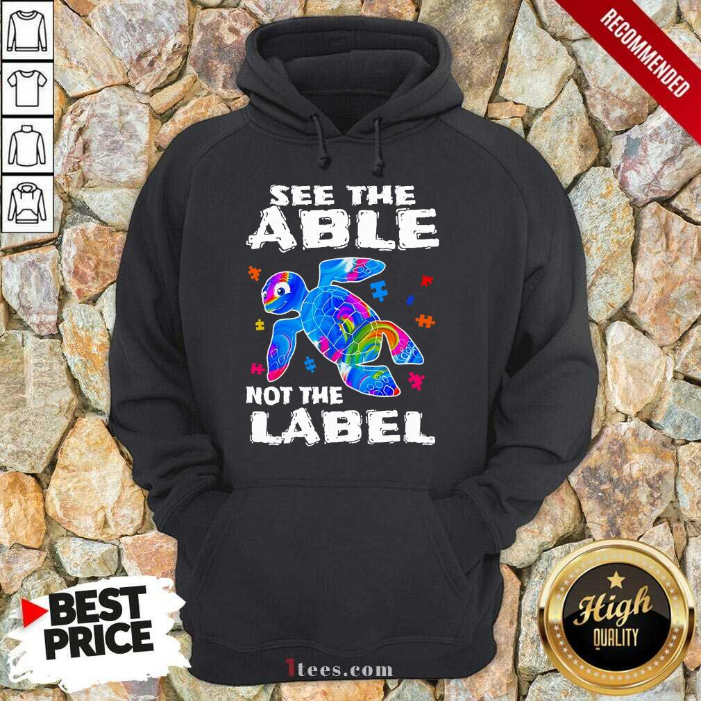 Delighted Turtle See The Able Nnot The Label Hoodie
