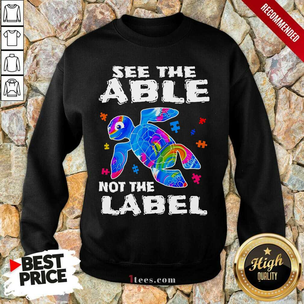 Delighted Turtle See The Able Nnot The Label Sweatshirt