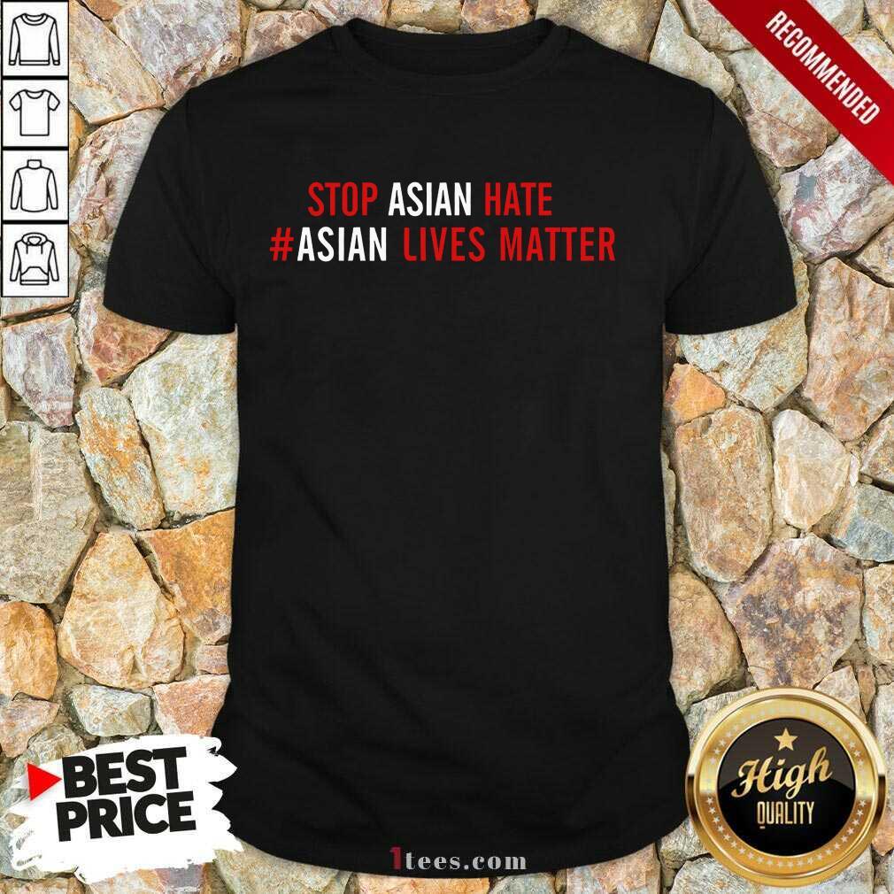 Ecstatic Asian Lives Matter Stop Hate Shirt