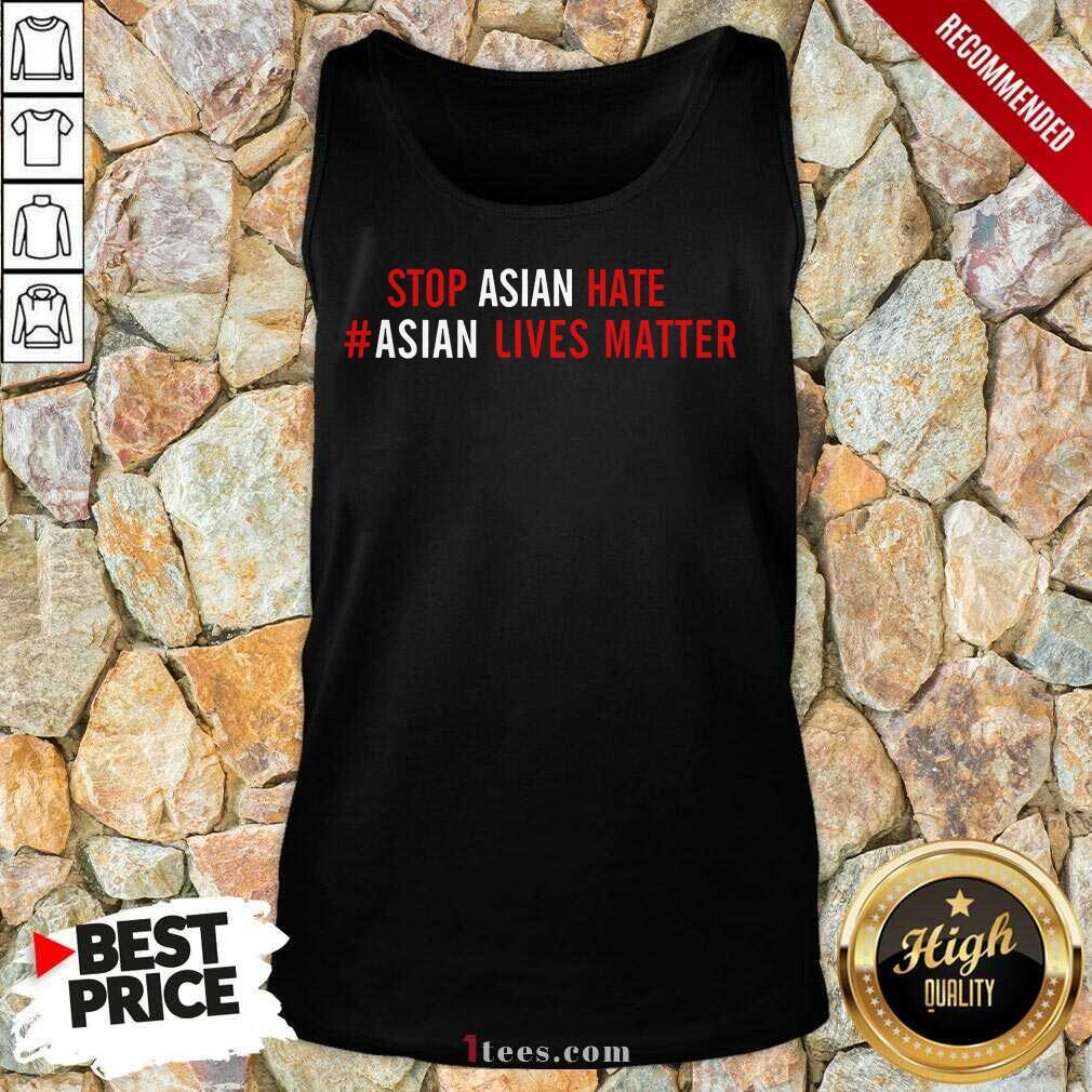 Ecstatic Asian Lives Matter Stop Hate Tank Top