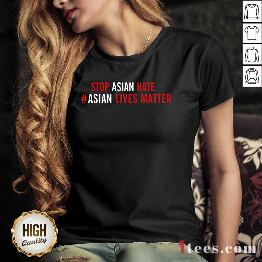 Ecstatic Asian Lives Matter Stop Hate V-neck