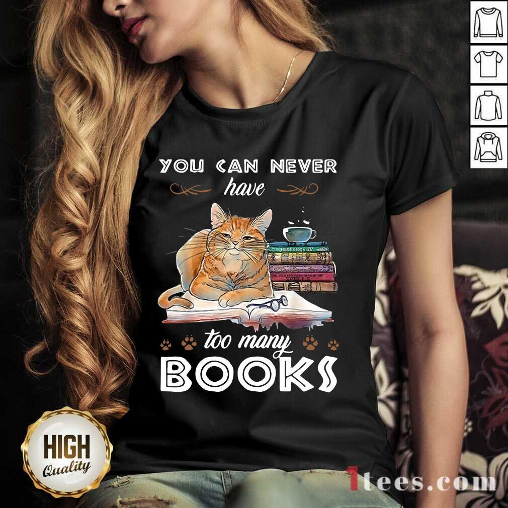 Ecstatic Cats Never Have Many Books V-neck