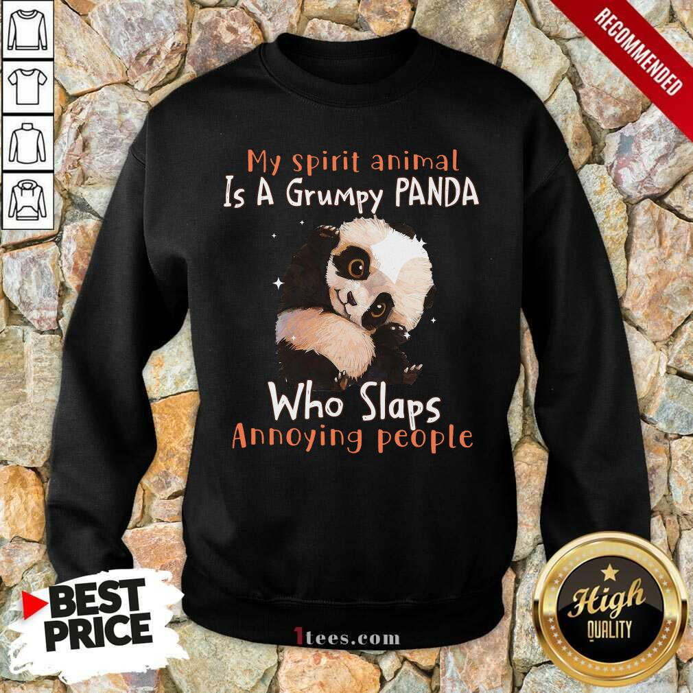 Enthusiastic Spirit Animal A Grumpy Panda Sweatshirt