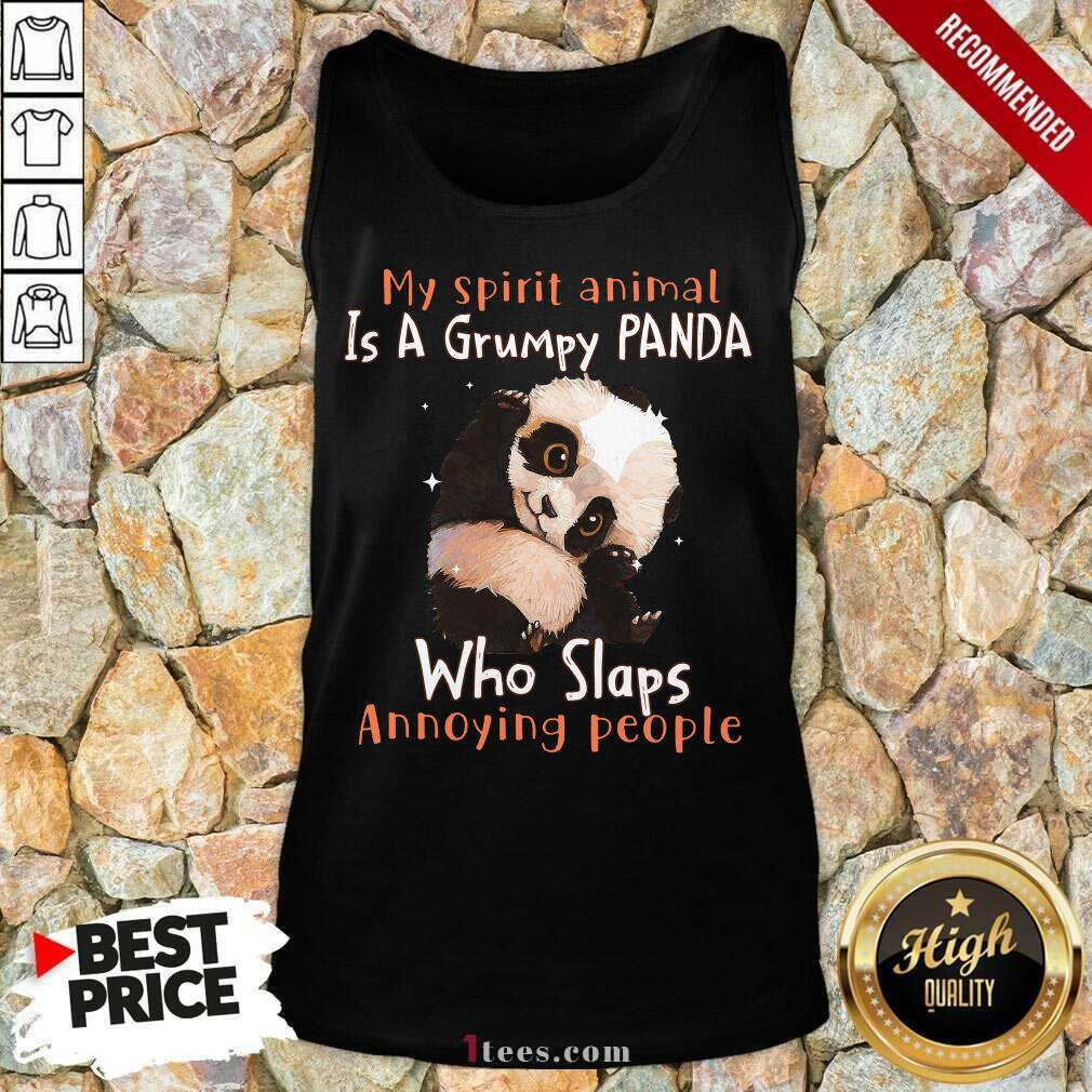Enthusiastic Spirit Animal A Grumpy Panda Tank Top