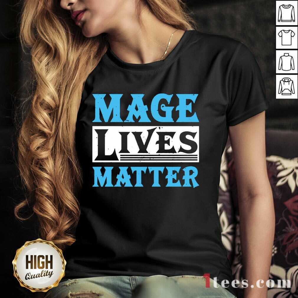 Excited Mage Lives Matter V-neck