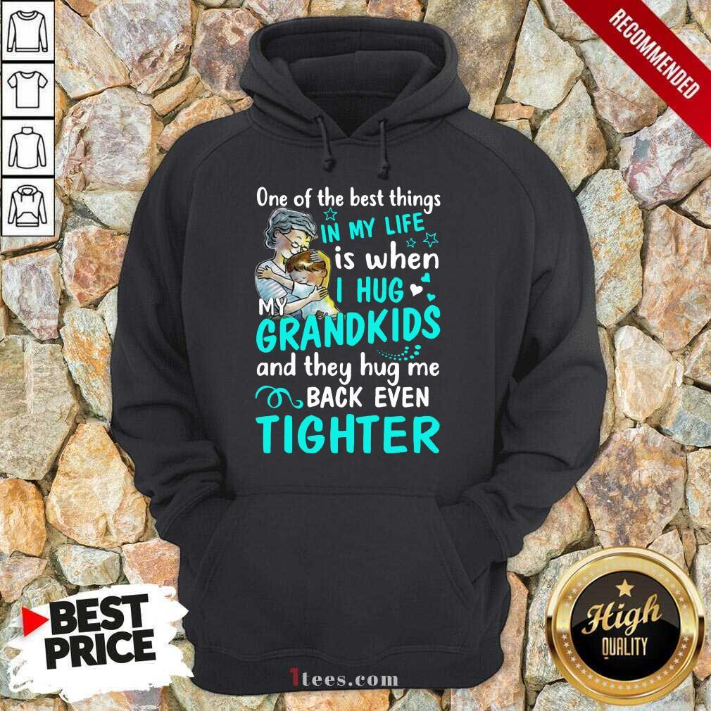 Excited One The Best Things Grandkids Hoodie