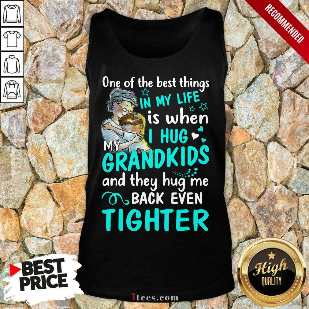 Excited One The Best Things Grandkids Tank Top