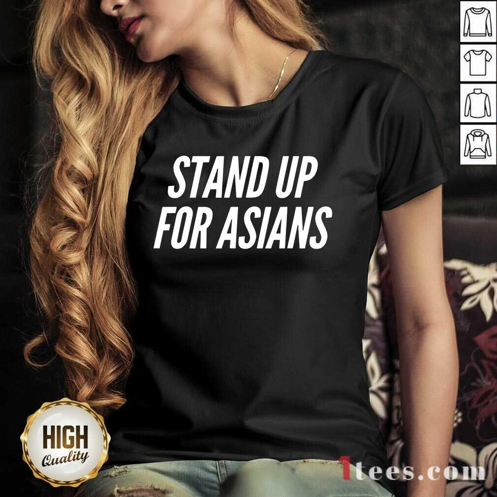 Excited Stand Up For Asians V-neck