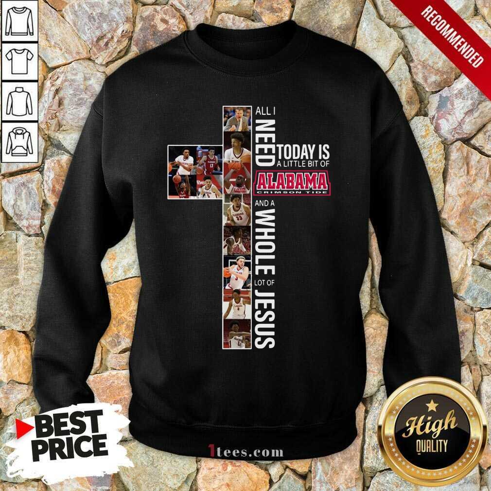 Excited Today Of Alabama Crimson Jesus Sweatshirt