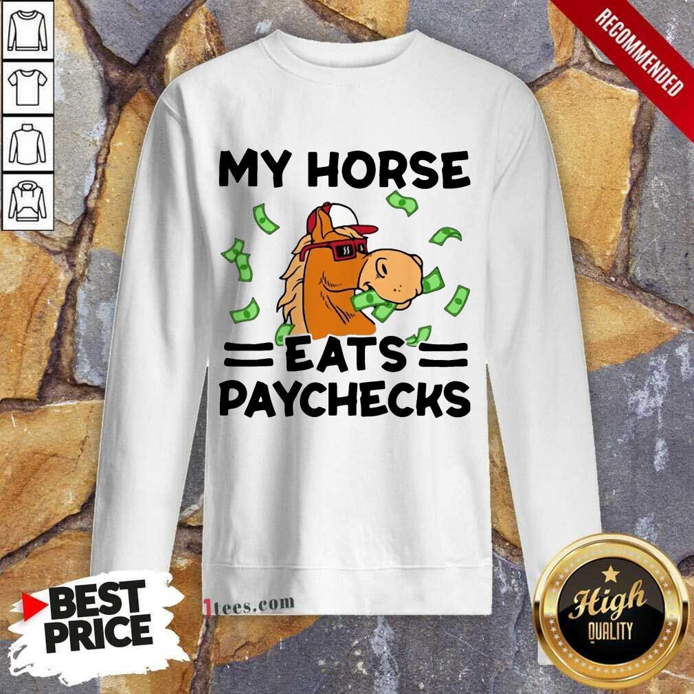 Good My Horse Eats Paychecks Ecstatic 789 Sweatshirt