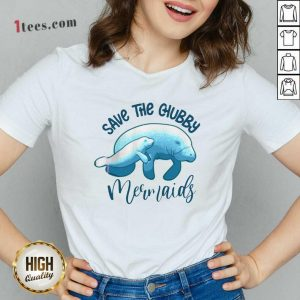 Save The Chubby Mermaids V-neck