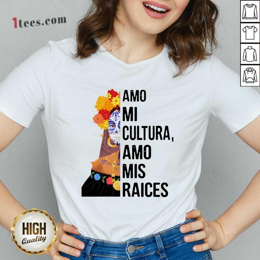 Amo Mi Cultura Amo Mis Raices Vintage V-neck