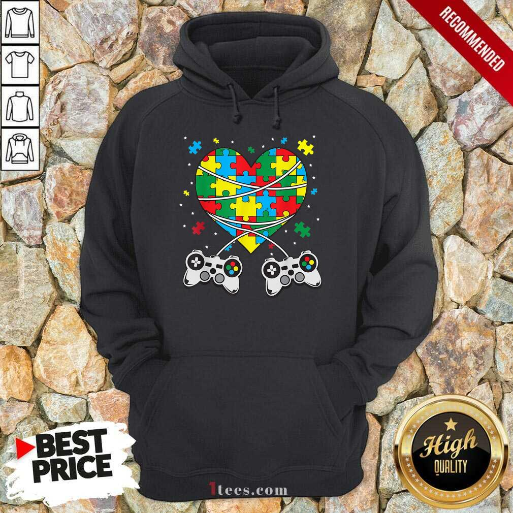 Great Games Puzzle Piece Autism Awareness Game Hoodie