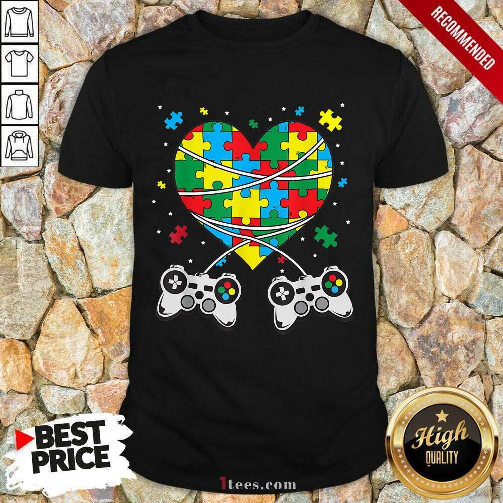 Great Games Puzzle Piece Autism Awareness Game Shirt