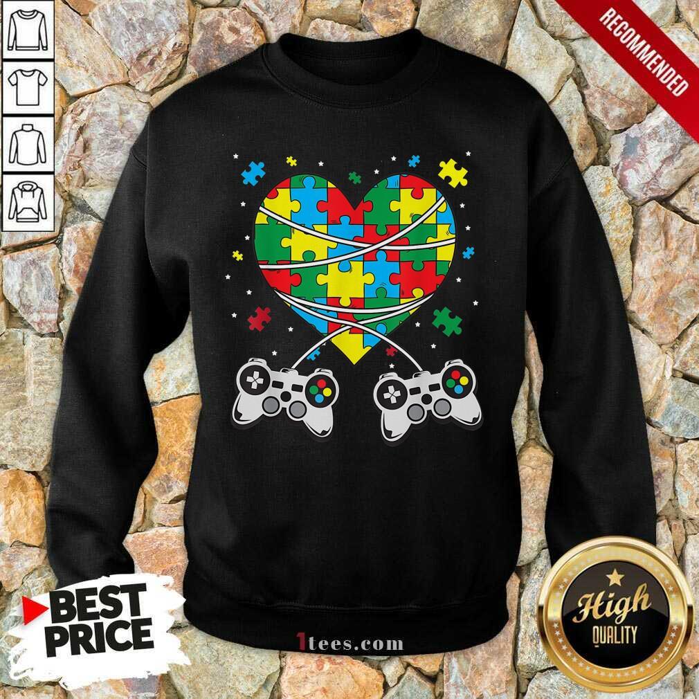 Great Games Puzzle Piece Autism Awareness Game Sweatshirt