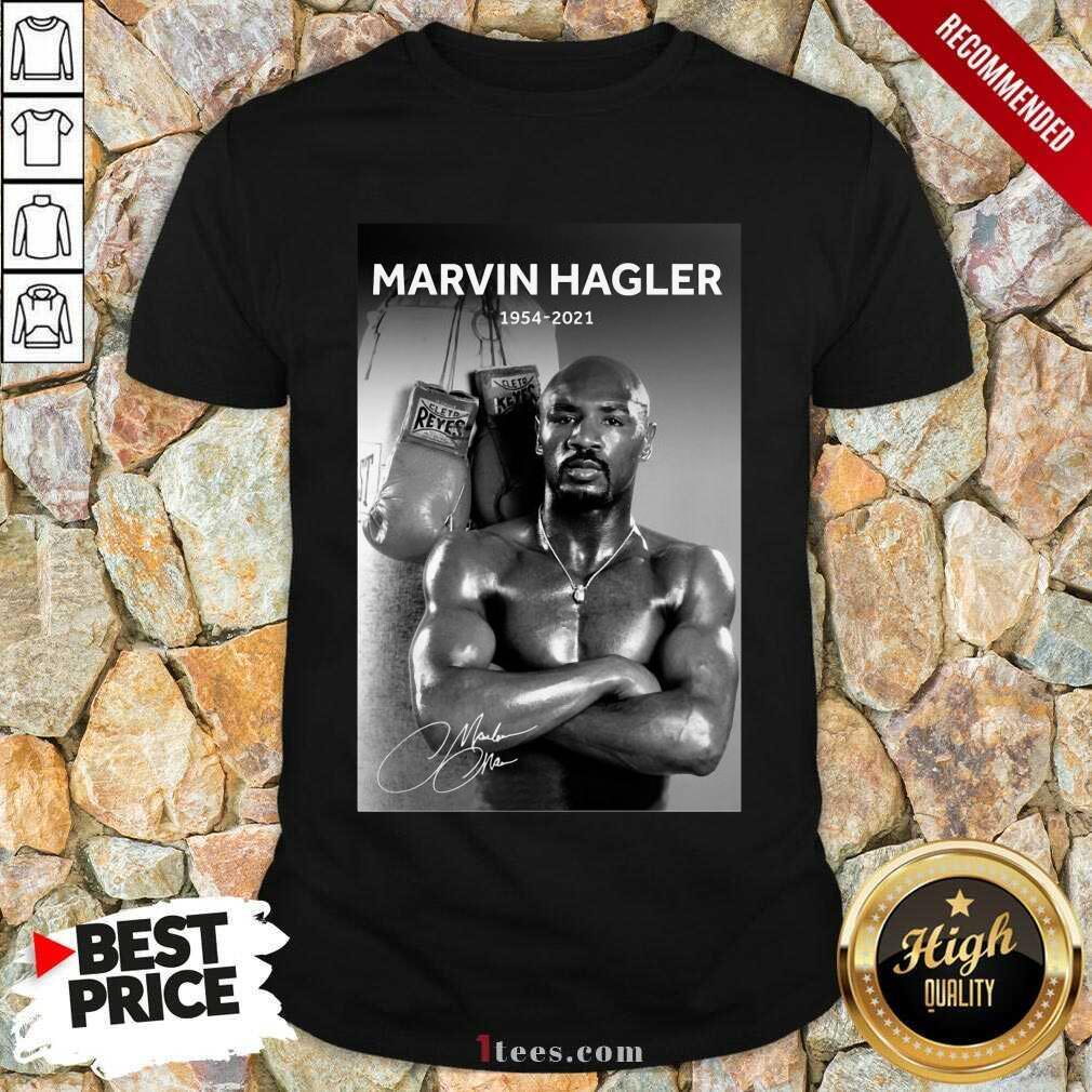 Great Marvelous Marvin Hagler 1954-2021 Shirt