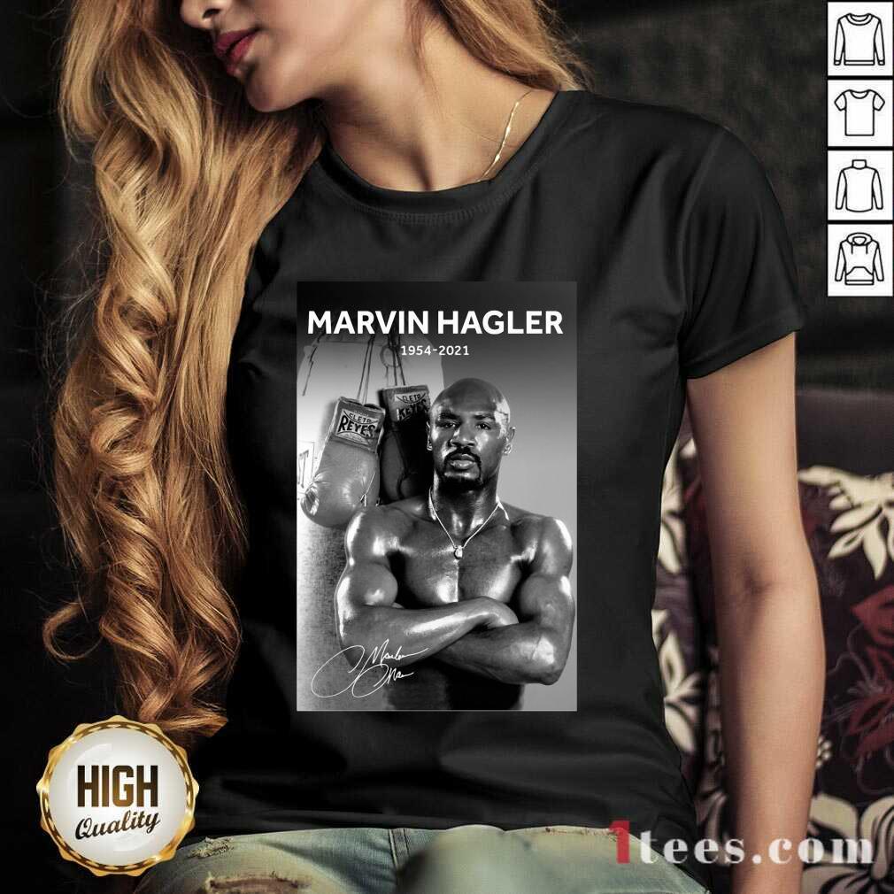 Great Marvelous Marvin Hagler 1954-2021 V-neck