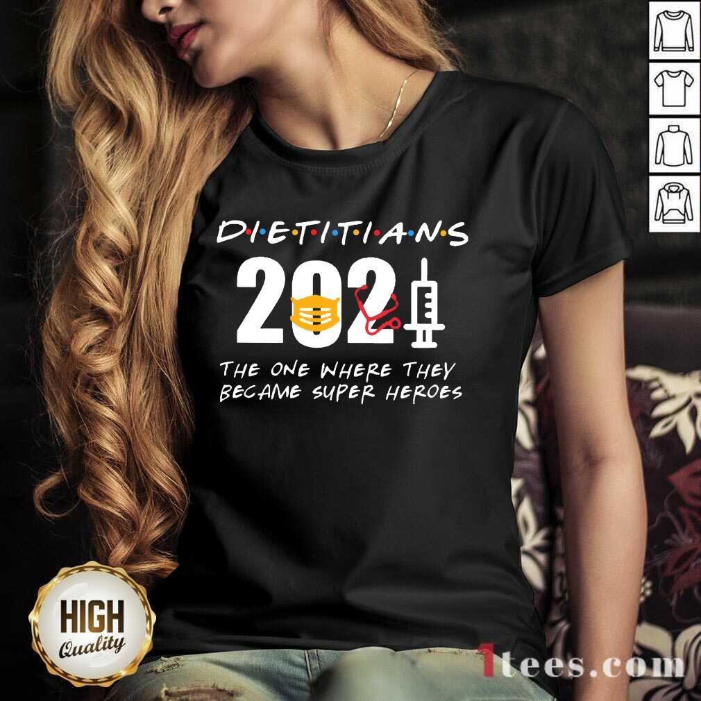 Happy Pretty Dietitians 2021 SuperHeroes V-neck